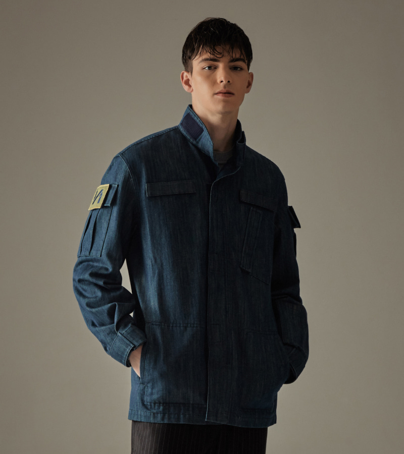 MILITARY MARCH JACKET - BLUE